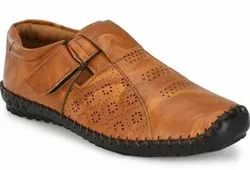 Brown Casual Wear Men Designer Leather Shoes, Size: 5