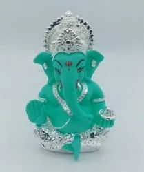 Silver Plated Ganesha Idol