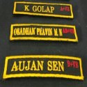 Army Uniform Name Plate