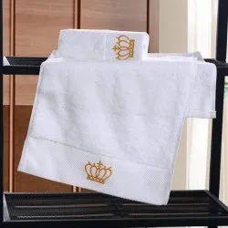 Printed White Hand Towel