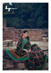 Lt Fabric Printed Latest Designer Saree, With blouse piece, 6.3 meter
