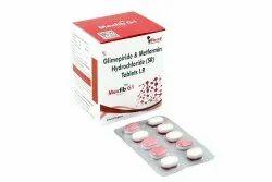 Glimipride 1 mg & Metformin 500 mg Tablets
