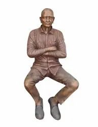 Life Size Statue Of Old Man