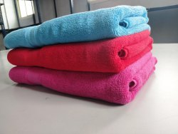 Multicolor Plain Terry Bath Towel, 550-650 GSM, Size: 70x140 Cm