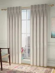 White Cotton American Plated Curtain, For Window