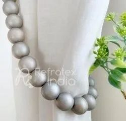 Dynamic Wooden Bead Curtain Tieback