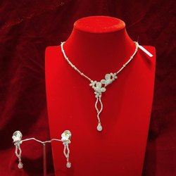 Iconic Silver Diamond Look Set, Size: Medium