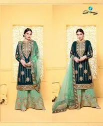 Designer Heavy Embroidery Sarara Suit