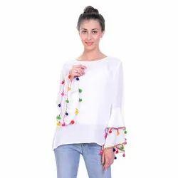 Cotton Party Wear Ladies Designer Tops