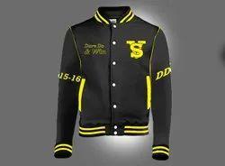 Cotton Black & Yellow Rider Jacket, Size: L - XXL