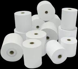 White Plain Thermal Paper Roll, For Industrial, GSM: 60 GSM