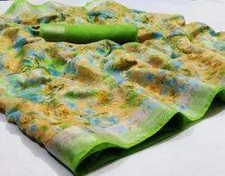 Printed Soft Linen Saree