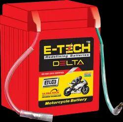 Capacity: 2.5ah Two Wheeler E-tech Delta Etlc3