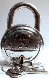 Alone With Key Single Round Padlock, Packaging Size: <10 Piece, Chrome