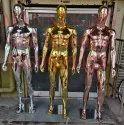 Chrome Plastic Male Mannequin