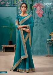 Desginer Vichitra Silk Saree