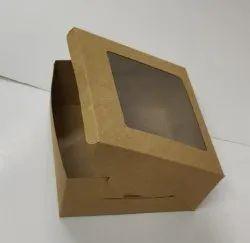 Brown Cake Paper Box