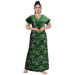 Full Length Cotton Ladies Night Wear Sleepwear Nighties