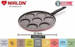 NIRLON Non Stick Pancake Maker/Uttapam Maker 7 Cavity Tawa 27.5 cm Diameter