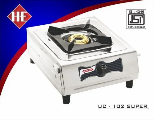 1 Burners Stainless Steel UC-102 Super SS One Burner Stove, Size: 1x1 Feet
