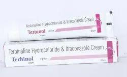 Terbinafine Hydrochloride 1% W/w+ Itraconazole 1% W/w