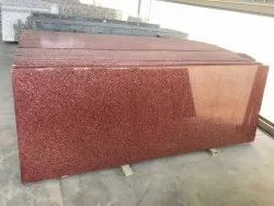 Slab Polished Red Granite Stone, Thickness: 18 mm