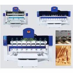 8 Head 4 Axis 3D CNC Engraving Machine