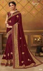 Fancy Party Wear Silk Saree