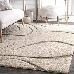 Microsilk矩形现代超细纤维地毯,用于地板,尺寸:4x6英尺