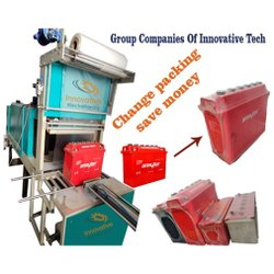 Semi Automatic Battery Shrink Wrapping Machine
