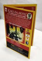 Paper Restaurant Menu Cards, Size: 8.5