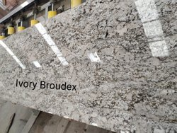 Ivory Broudex Indian Granite Slab, For Flooring, Thickness: 18 mm
