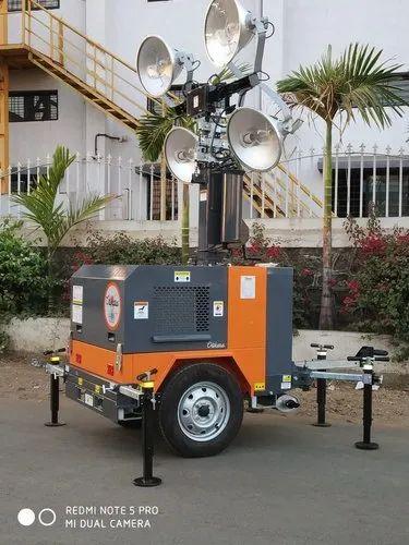 Kva Mobile Lighting Tower, Portable Outdoor Lighting Tower