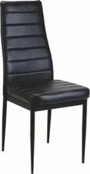 Wooden ( Frame) Black Decorated Dining Chair, For Restaurant