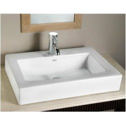Ceramic Wall Mounted American Standard Above Counter Rectangular Box Basin, For Bathroom