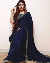Vichitra Silk With Heavy Embroidery Work Border