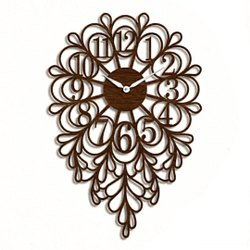 Analog Designer Wooden Clock
