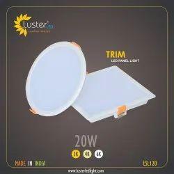 20W LED Panel Light Rimless