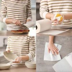 White Washable And Reusable Kitchen Towel, Size: 41*200