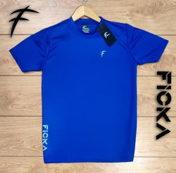 FICKA Polyester Mens Sports T Shirt