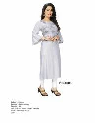 Ladies Formal Wear Cotton Kurti, Wash Care: Handwash
