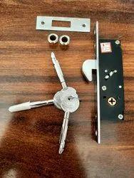 Steel Hook Lock For Sliding Door Lock Aluminium And Wooden Doors With 3 Star Keys