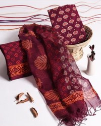 Dabu Printed Chanderi Suits