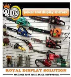 Metal Wall Mounted Power Tools Display Shelves, For Showroom