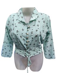 Cotton Casual Wear Girls Printed Top, Size: Large