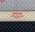 Rolex 100% cotton print shirting fabric