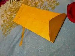 Yellow Cotton Chindi Plain Paper Envelope, Rectangle, Size: 9
