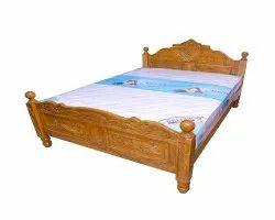 Oak Wood Double Bed