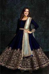 Present Velvet Silk With Embroidery Work Wedding Lahenaga Choli