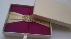 MDF Velvet Luxury Wedding Invitation Box